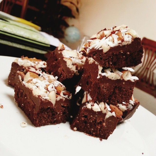 Raw Hazlenut Chocolate Squares
